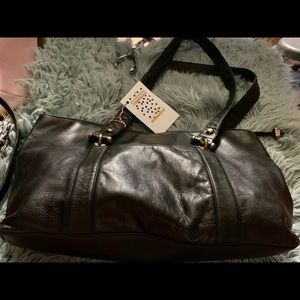 DKNY genuine black leather tote 👜 💕💋